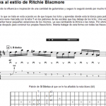 Frases y licks al estilo de Ritchie Blacmore